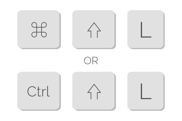 Cmd + Shift + L or Ctrl + Shift + L